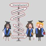 Ανησυχημένοι σπουδαστές που αναζητούν μια θέση εργασίας Στοκ φωτογραφία με δικαίωμα ελεύθερης χρήσης