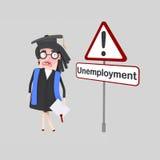 Ανησυχημένοι σπουδαστές που αναζητούν μια θέση εργασίας Στοκ Εικόνα