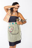 Ανησυχημένος ινδικός αρχιμάγειρας Στοκ Φωτογραφίες