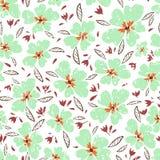 ανθίζει λίγα Άνευ ραφής σχέδιο με τα χαριτωμένα λουλούδια Λεπτή σύσταση διανυσματική απεικόνιση