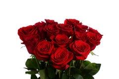 Ανθίζει μια ανθοδέσμη από τα κόκκινα τριαντάφυλλα Στοκ Φωτογραφία