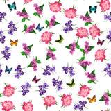 Ανθίζοντας ιώδες λουλούδι Στοκ εικόνα με δικαίωμα ελεύθερης χρήσης