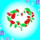 ανθίζοντας καρδιά Στοκ εικόνες με δικαίωμα ελεύθερης χρήσης