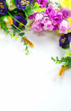 Ανθίζοντας λουλούδια ανθοδεσμών στο άσπρο υπόβαθρο στοκ εικόνες με δικαίωμα ελεύθερης χρήσης