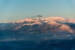 ανθίστε το χρονικό χειμώνα χιονιού Στοκ Εικόνα