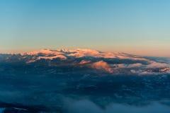 ανθίστε το χρονικό χειμώνα χιονιού Στοκ Εικόνες