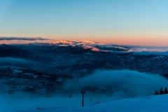 ανθίστε το χρονικό χειμώνα χιονιού Στοκ Φωτογραφία
