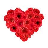 Ανθοδέσμη καρδιών των κόκκινων τριαντάφυλλων επίσης corel σύρετε το διάνυσμα απεικόνισης Στοκ εικόνα με δικαίωμα ελεύθερης χρήσης
