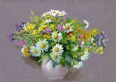Ανθοδέσμη των θερινών λουλουδιών απεικόνιση αποθεμάτων