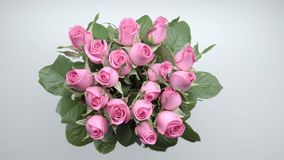 Ανθοδέσμη των τριαντάφυλλων 4 απόθεμα βίντεο