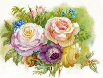 Ανθοδέσμη των τριαντάφυλλων διανυσματική απεικόνιση