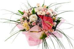 Ανθοδέσμη των anthuriums, των τριαντάφυλλων και orchids Στοκ φωτογραφία με δικαίωμα ελεύθερης χρήσης