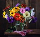 Ανθοδέσμη φθινοπώρου των καλλιεργημένων λουλουδιών Στοκ εικόνες με δικαίωμα ελεύθερης χρήσης