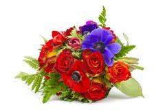 Ανθοδέσμη Anemones και τριαντάφυλλα Στοκ φωτογραφίες με δικαίωμα ελεύθερης χρήσης