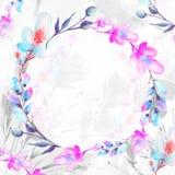 Ανθοδέσμη Watercolor των λουλουδιών E απεικόνιση αποθεμάτων