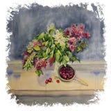 Ανθοδέσμη Watercolor Στοκ εικόνα με δικαίωμα ελεύθερης χρήσης