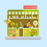 Ανθοπωλείο και ανθοκόμος Απεικόνιση αποθεμάτων