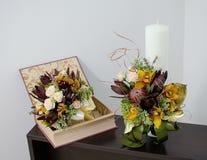 Ανθοδέσμες γαμήλιων λουλουδιών Στοκ φωτογραφία με δικαίωμα ελεύθερης χρήσης