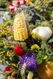 ανθοδέσμες των λουλουδιών και των χορταριών Στοκ εικόνες με δικαίωμα ελεύθερης χρήσης