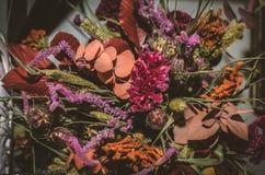 Ανθοδέσμη από τα ξηρά λουλούδια Στοκ φωτογραφία με δικαίωμα ελεύθερης χρήσης