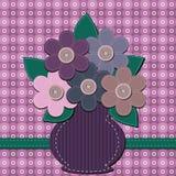 Ανθοδέσμη λευκώματος αποκομμάτων των λουλουδιών Στοκ εικόνες με δικαίωμα ελεύθερης χρήσης