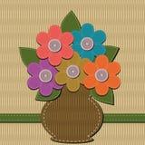 Ανθοδέσμη λευκώματος αποκομμάτων των λουλουδιών Στοκ εικόνα με δικαίωμα ελεύθερης χρήσης