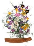 Ανθοδέσμη εφαρμογής των ξηρών λουλουδιών Στοκ φωτογραφία με δικαίωμα ελεύθερης χρήσης