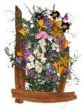 Ανθοδέσμη εφαρμογής των ξηρών λουλουδιών Στοκ φωτογραφίες με δικαίωμα ελεύθερης χρήσης