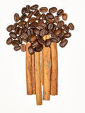 Ανθοδέσμη κανέλας καφέ Στοκ Εικόνα