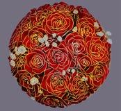 Ανθοδέσμη μπαλονιών των κόκκινων τριαντάφυλλων Στοκ εικόνα με δικαίωμα ελεύθερης χρήσης