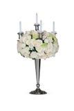 Ανθοδέσμη λουλουδιών με το κηροπήγιο Στοκ εικόνα με δικαίωμα ελεύθερης χρήσης