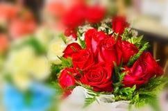 Ανθοδέσμη των κόκκινων τριαντάφυλλων Στοκ Εικόνες