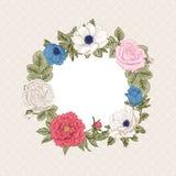 Ανθοδέσμη των λουλουδιών γάμος απεικόνισης καρτών αφαίρεσης Στοκ Εικόνα