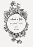 Ανθοδέσμη των λουλουδιών γάμος απεικόνισης καρτών αφαίρεσης Στοκ φωτογραφία με δικαίωμα ελεύθερης χρήσης
