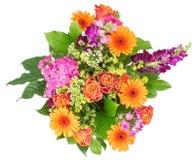 Ανθοδέσμη των λουλουδιών που απομονώνονται στο λευκό Στοκ εικόνα με δικαίωμα ελεύθερης χρήσης
