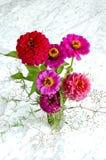 Ανθοδέσμη των λουλουδιών στο μαύρο βάζο Στοκ Φωτογραφία