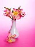 Ανθοδέσμη των λουλουδιών alstroemeria στο βάζο στοκ εικόνες