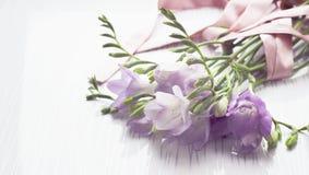 Ανθοδέσμη των λουλουδιών freesias Στοκ Εικόνες