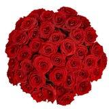 Ανθοδέσμη των όμορφων κόκκινων τριαντάφυλλων σε ένα άσπρο υπόβαθρο με το clipp Στοκ Εικόνες