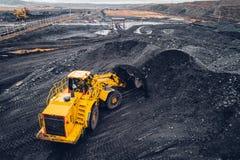 Ανθρακωρυχείο σε ένα ανοικτό κοίλωμα Στοκ Εικόνες