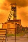 Ανθρακωρυχείο στο ηλιοβασίλεμα Στοκ Φωτογραφίες