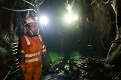 Ανθρακωρύχος στο ορυχείο Στοκ φωτογραφίες με δικαίωμα ελεύθερης χρήσης
