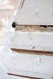 Ανθρώπινα ίχνη στα χιονώδη σκαλοπάτια στοκ εικόνες με δικαίωμα ελεύθερης χρήσης