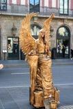 Ανθρώπινα αγάλματα στα ramblas Στοκ φωτογραφία με δικαίωμα ελεύθερης χρήσης
