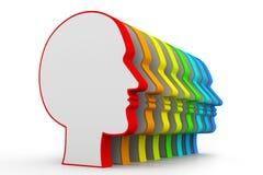 Ανθρώπινα κεφάλια σε μια σειρά Στοκ Εικόνα