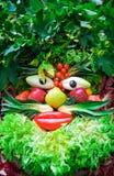 ανθρώπινα λαχανικά προσώπ&omicro Στοκ φωτογραφία με δικαίωμα ελεύθερης χρήσης