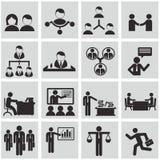 Ανθρώπινα δυναμικά και διοικητικά εικονίδια καθορισμένα. Στοκ Εικόνες