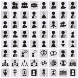 Ανθρώπινα δυναμικά και διοικητικά εικονίδια που τίθενται Στοκ φωτογραφία με δικαίωμα ελεύθερης χρήσης
