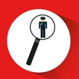ανθρώπινα δυναμικά που ψάχνουν το άτομο αστυνομίας γραφικό Στοκ Εικόνες