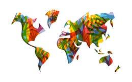 Ανθρώπινα χέρια παγκόσμιων χαρτών απεικόνισης ημέρας αλληλεγγύης διανυσματική απεικόνιση